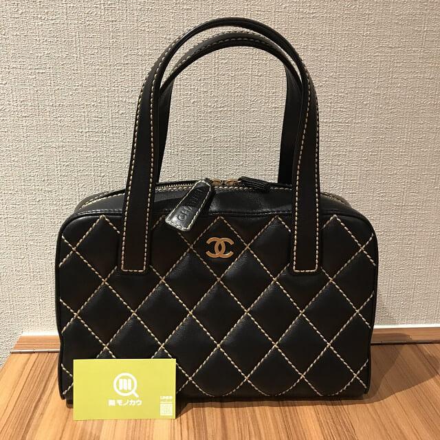 出戸のお客様からシャネルの【ワイルドステッチ】のバッグを買取_01