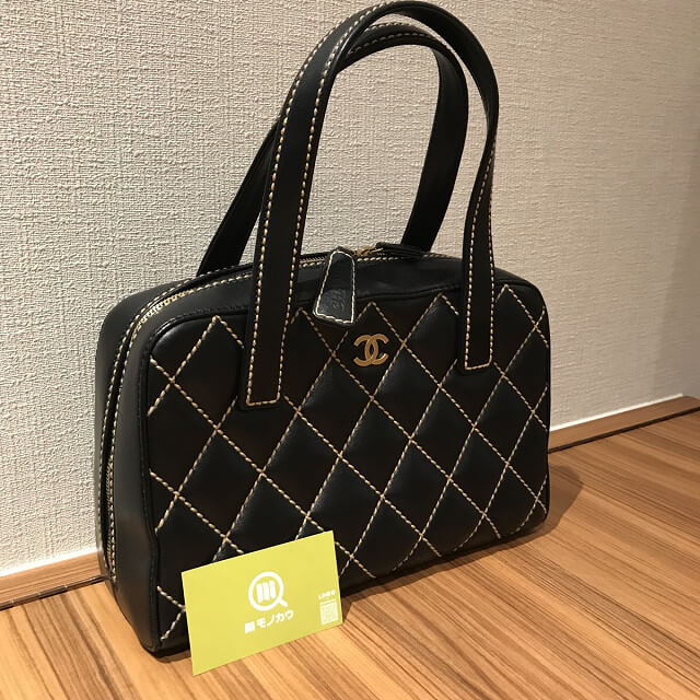 出戸のお客様からシャネルの【ワイルドステッチ】のバッグを買取_02