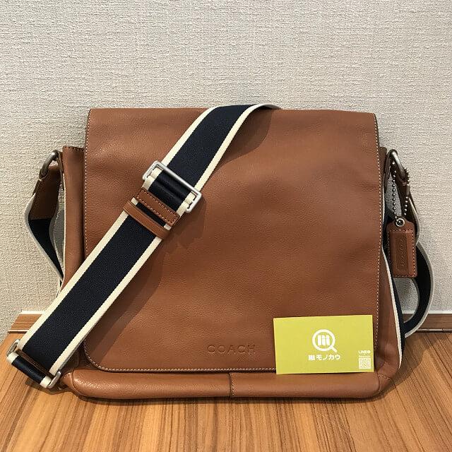 門真のお客様からコーチのレザーショルダーバッグを買取_02