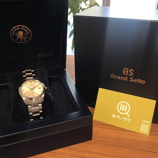 柏のお客様から宅配買取にてグランドセイコーの腕時計を買取_01