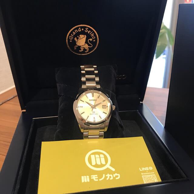 柏のお客様から宅配買取にてグランドセイコーの腕時計を買取_03