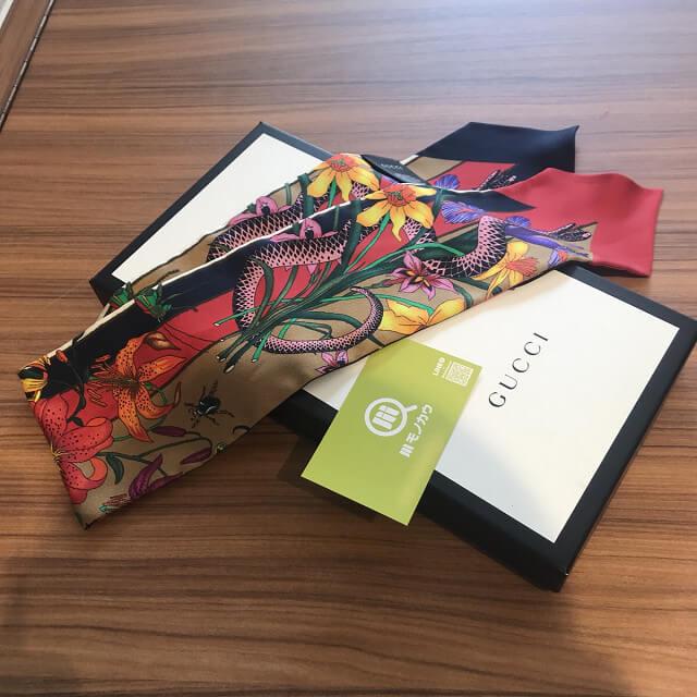 四条畷のお客様からグッチのスカーフを買取_03