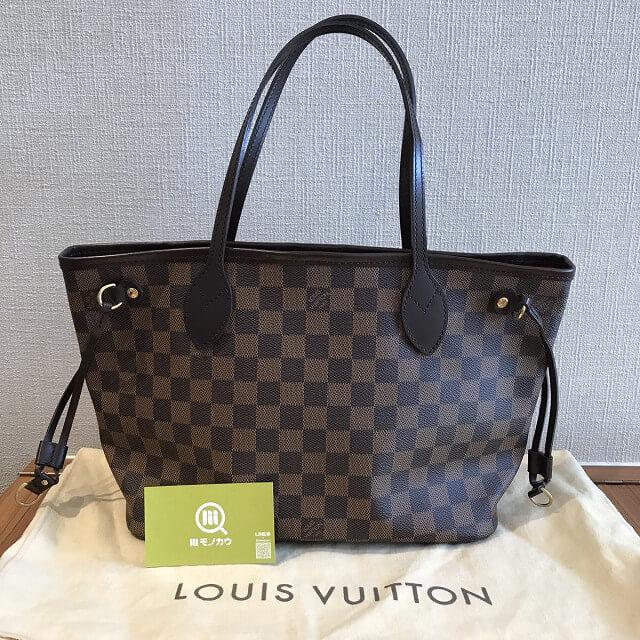 大阪市平野区のお客様からヴィトンのダミエのバッグ【ネヴァーフルPM】を買取_02