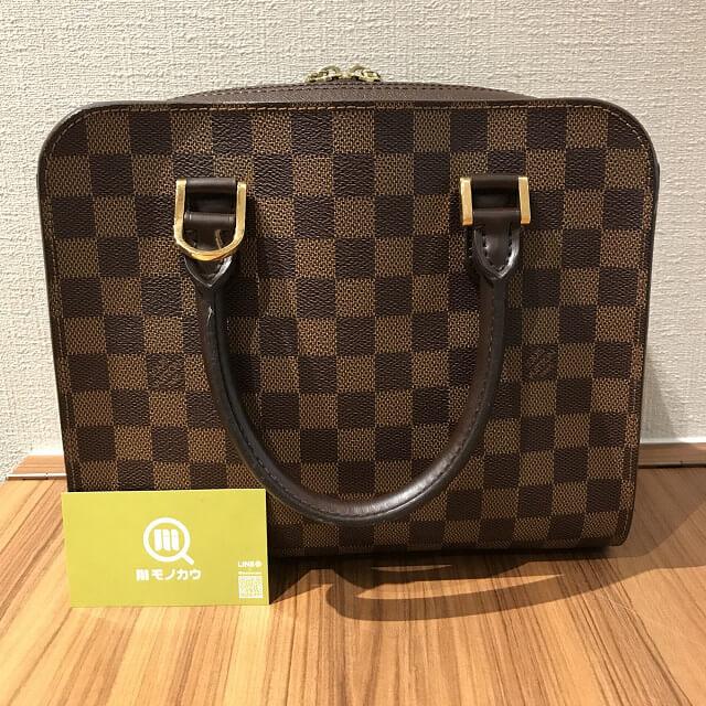 鶴橋のお客様からヴィトンのダミエのバッグ【トリアナ】を買取_01