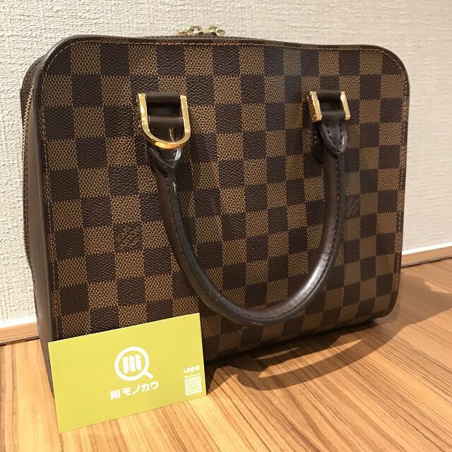 鶴橋のお客様からヴィトンのダミエのバッグ【トリアナ】を買取_02