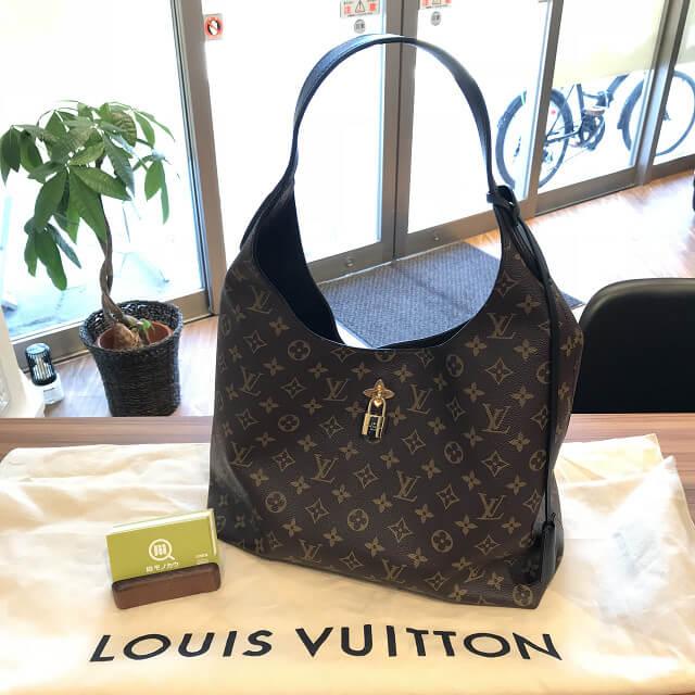 十三のお客様からヴィトンのモノグラム・マカサーのバッグ【フラワーホーボー】を買取_01