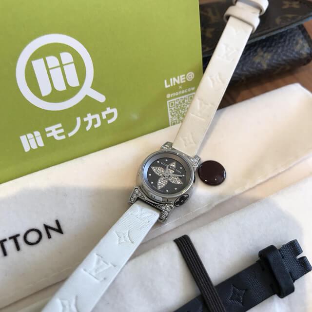 淡路のお客様からヴィトンの腕時計【タンブール ビジュ】を買取_02