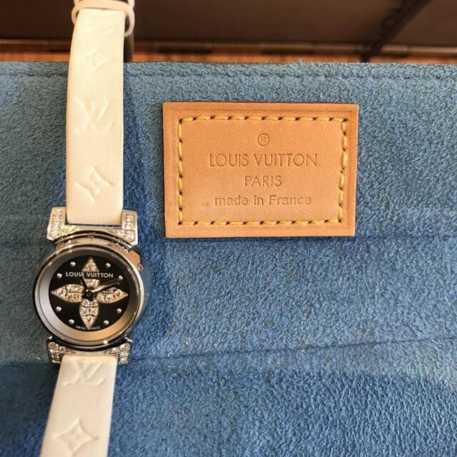 淡路のお客様からヴィトンの腕時計【タンブール ビジュ】を買取_04