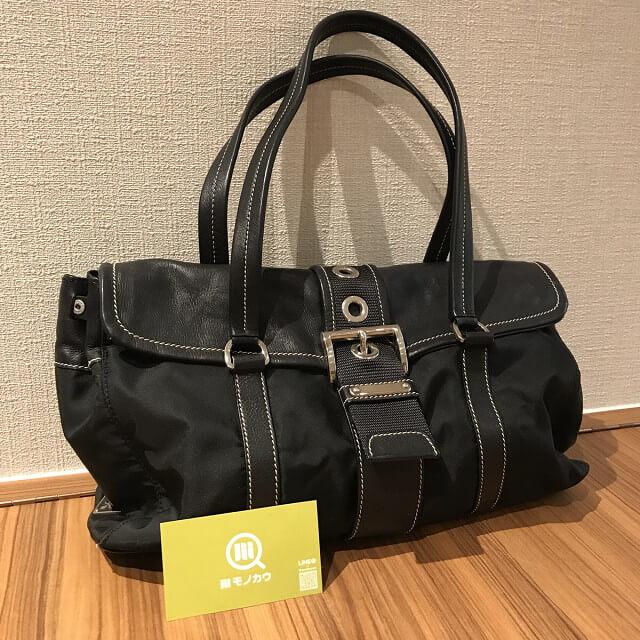 鶴橋のお客様からプラダのナイロンバッグを買取_01