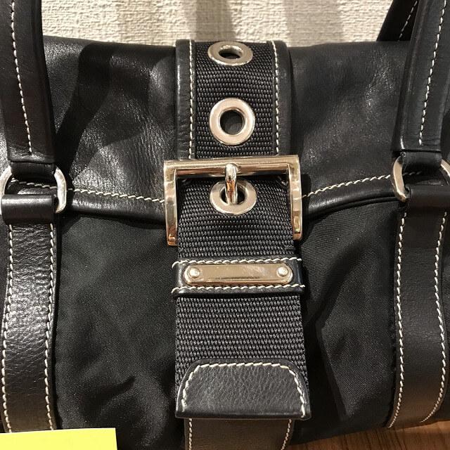 鶴橋のお客様からプラダのナイロンバッグを買取_03