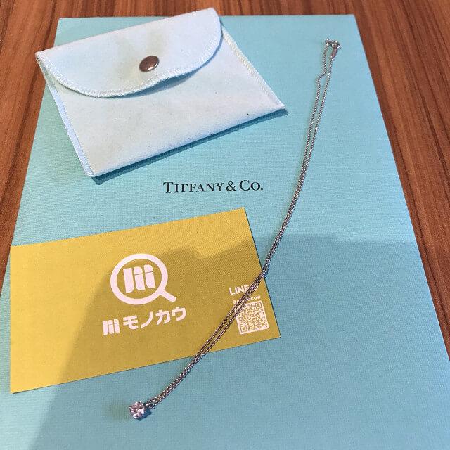 東大阪のお客様からティファニーのダイヤのネックレス【ソリティア】を買取_01