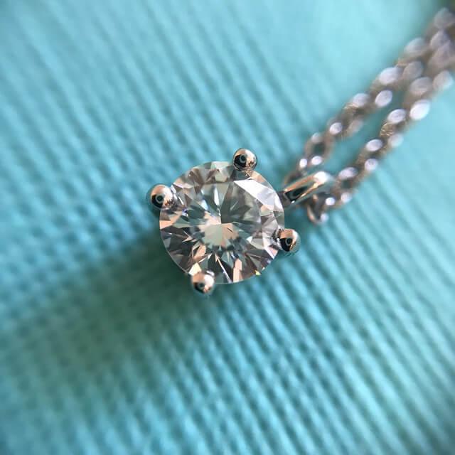 東大阪のお客様からティファニーのダイヤのネックレス【ソリティア】を買取_02