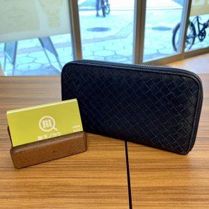 新宿からボッテガヴェネタのラウンドファスナー長財布を買取
