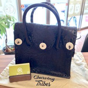 阿倍野のお客様からグレースコンチネンタルのカービングバッグを買取
