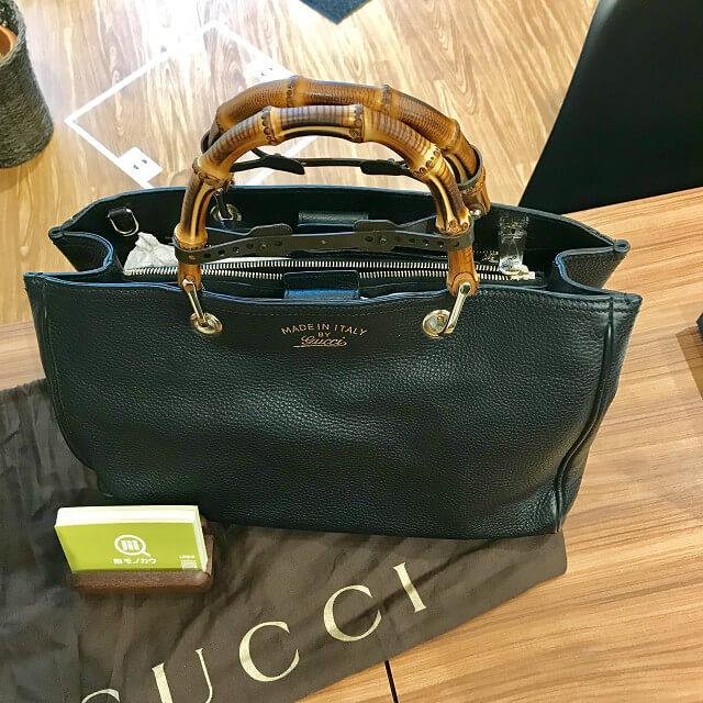 大阪市福島区のお客様からグッチのバンブー2wayバッグを買取_03