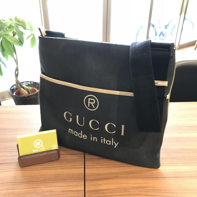 岡山のお客様からグッチのショルダーバッグを買取_01