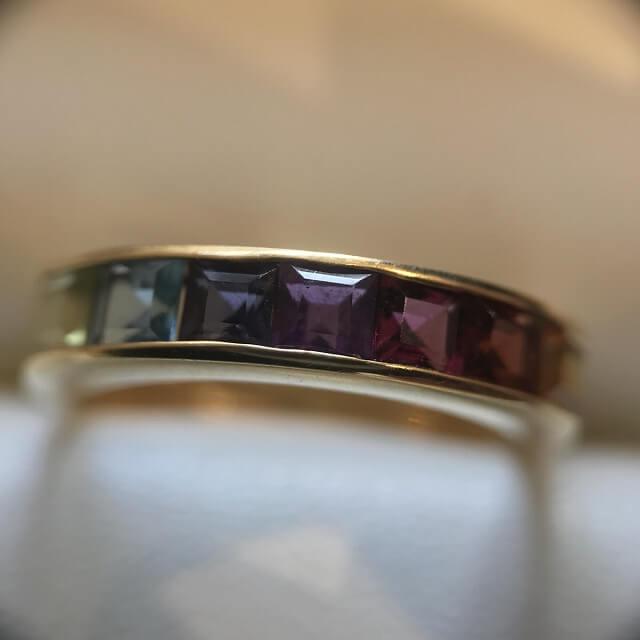 喜連瓜破のお客様から18金の指輪を買取_03