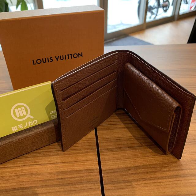 十三のお客様からヴィトンの二つ折り財布を買取_03