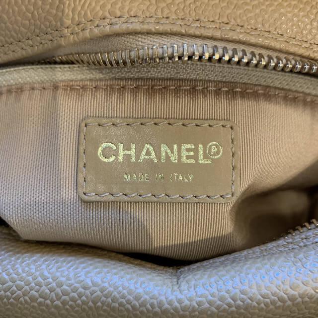 尼崎からシャネルのキャビアスキンのバッグを買取_04