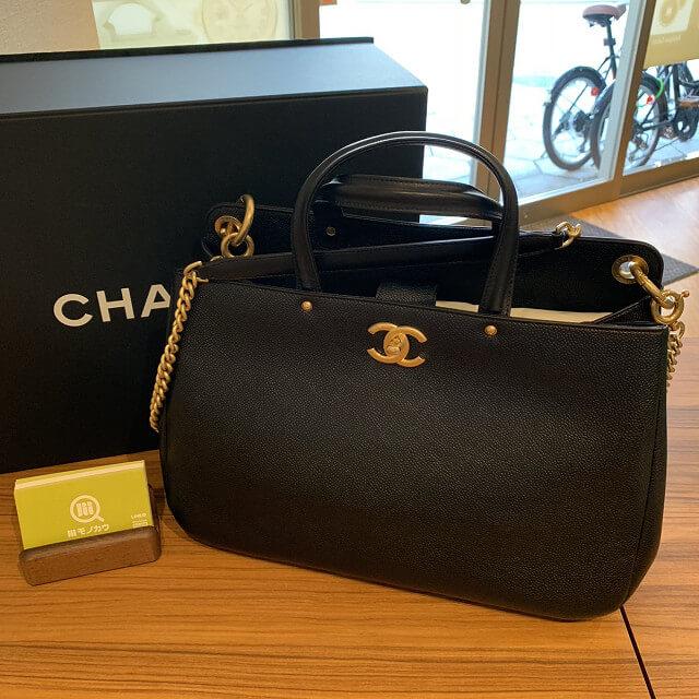和泉のお客様からシャネルのショッピングバッグを買取_01