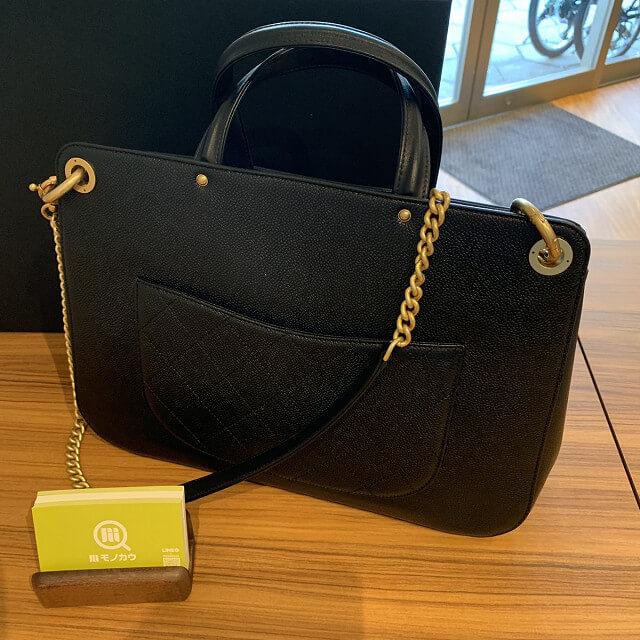 和泉のお客様からシャネルのショッピングバッグを買取_03