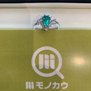 天王寺のお客様からエメラルドの指輪を買取
