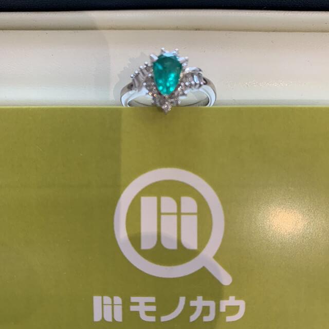 天王寺のお客様からエメラルドの指輪を買取_01