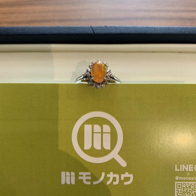 天王寺のお客様からファイアーオパールの指輪を買取_01