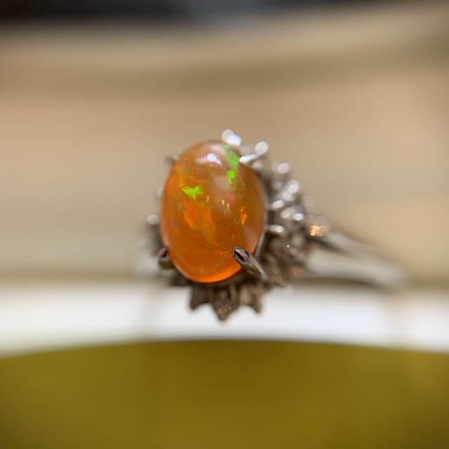 天王寺のお客様からファイアーオパールの指輪を買取_04