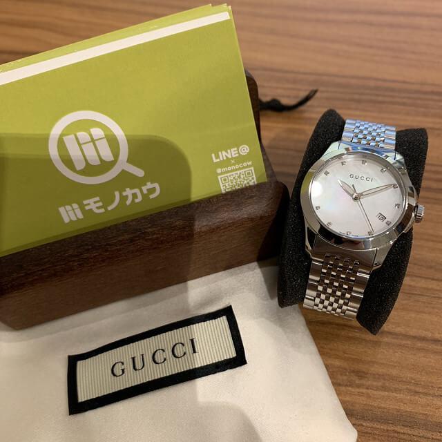 門真のお客様からグッチの時計を買取_01