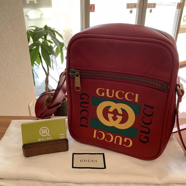 高円寺からグッチのプリントメッセンジャーバッグを買取_01