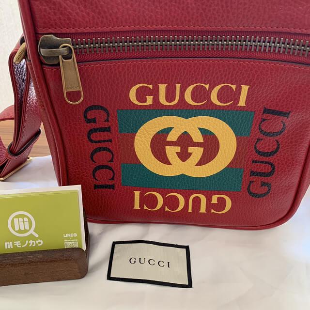 高円寺からグッチのプリントメッセンジャーバッグを買取_04