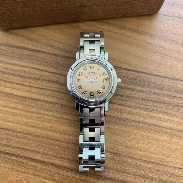 板橋区小茂根からエルメスの時計クリッパーを買取_02
