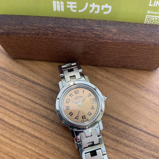 板橋区小茂根からエルメスの時計クリッパーを買取_03