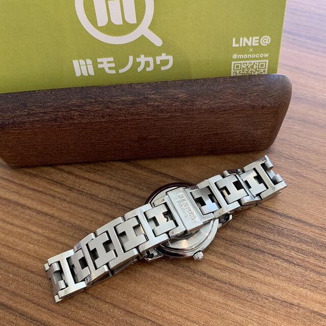 板橋区小茂根からエルメスの時計クリッパーを買取_04