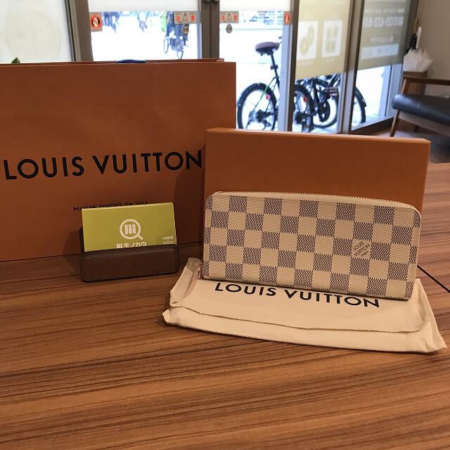 緑橋のお客様からヴィトンのダミエアズール長財布を買取_01