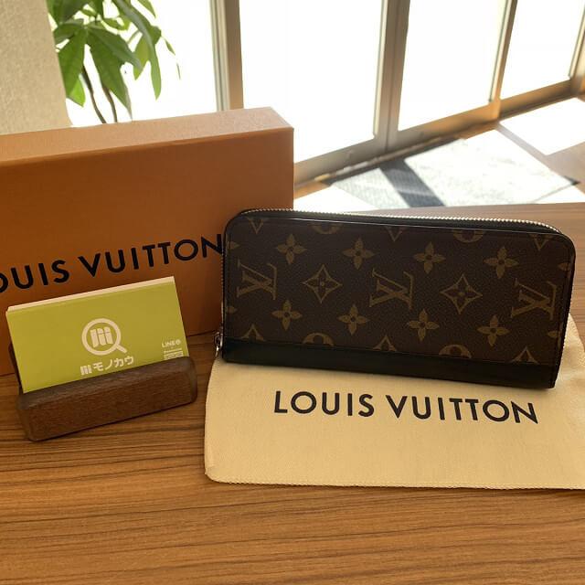 胎内市からヴィトンのモノグラムマカサーの長財布を買取_01