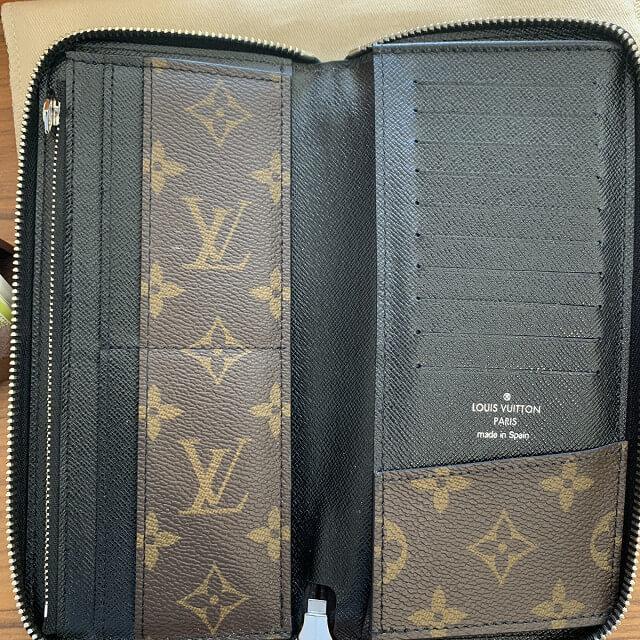 胎内市からヴィトンのモノグラムマカサーの長財布を買取_04