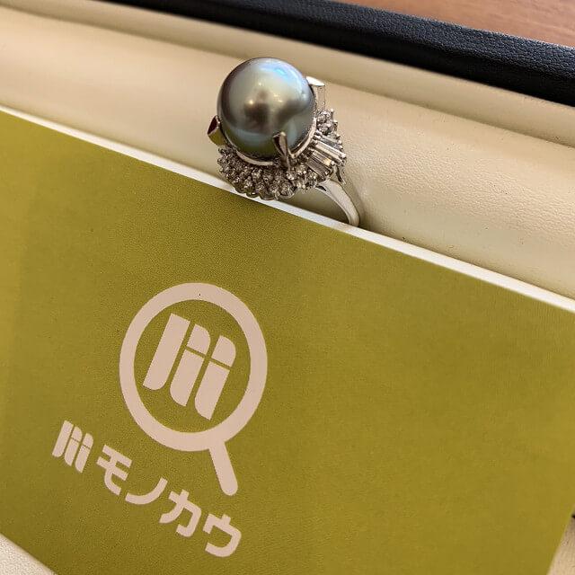 谷町六丁目のお客様から真珠の指輪を買取_02
