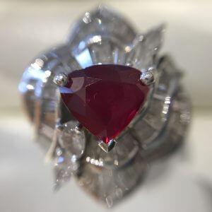 緑橋のお客様からルビー×ダイヤモンドの指輪を買取