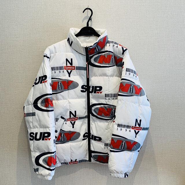 池田のお客様からSupreme NY Reversible Puffy Jacket Whiteを買取_01