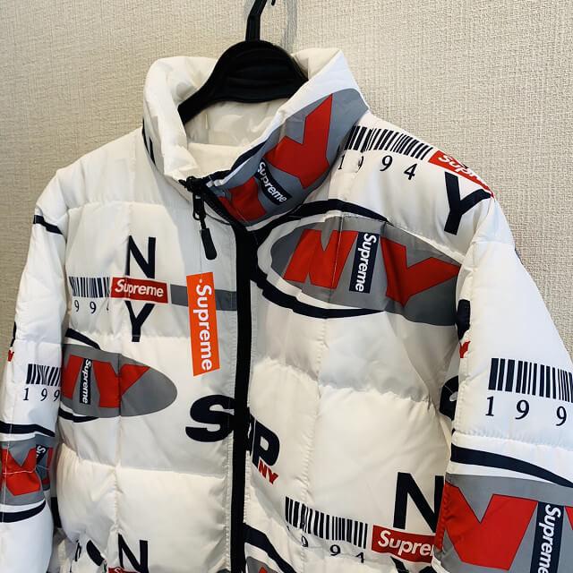 池田のお客様からSupreme NY Reversible Puffy Jacket Whiteを買取_02