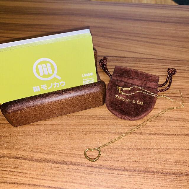 藤井寺のお客様からティファニーのオープンハートネックレスを買取_01