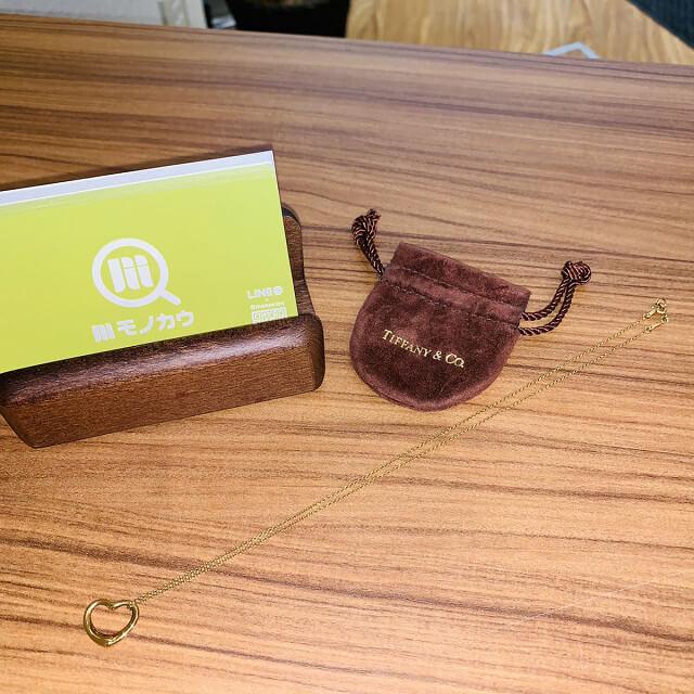 藤井寺のお客様からティファニーのオープンハートネックレスを買取_02