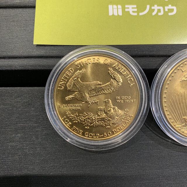 天王寺のお客様から22金のイーグルコイン(金貨)を買取_02