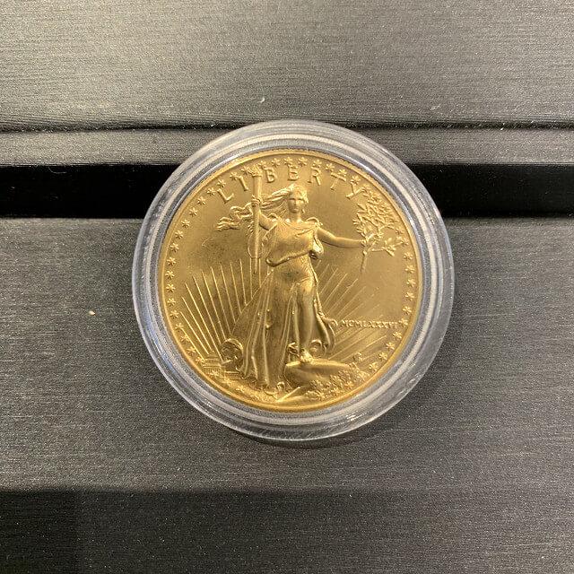 天王寺のお客様から22金のイーグルコイン(金貨)を買取_03