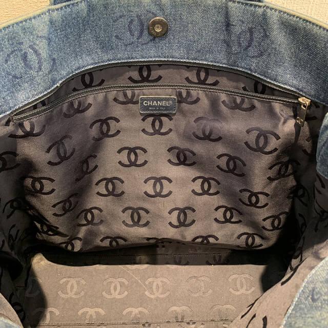 天王寺区のお客様からシャネルのデニムトートバッグを買取_03