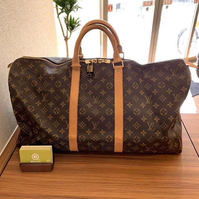 東成のお客様からヴィトンのキーポル55ボストンバッグを買取_02