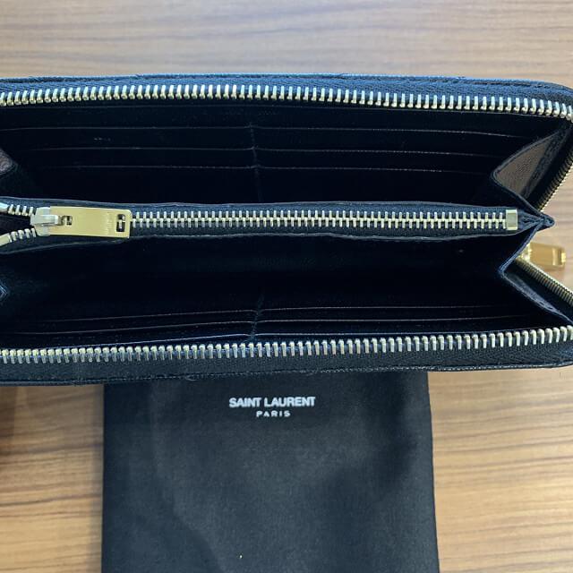 新宿からサンローランのYSLロゴ長財布を買取_04