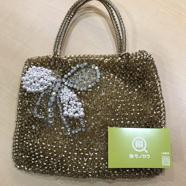 生駒のお客様からアンテプリマのワイヤーハンドバッグを買取_01